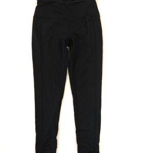 Yogi pace regular rise leggings black size small